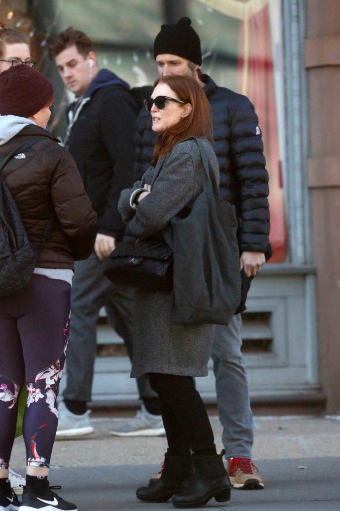 Julianne Moore in a Gray Coat