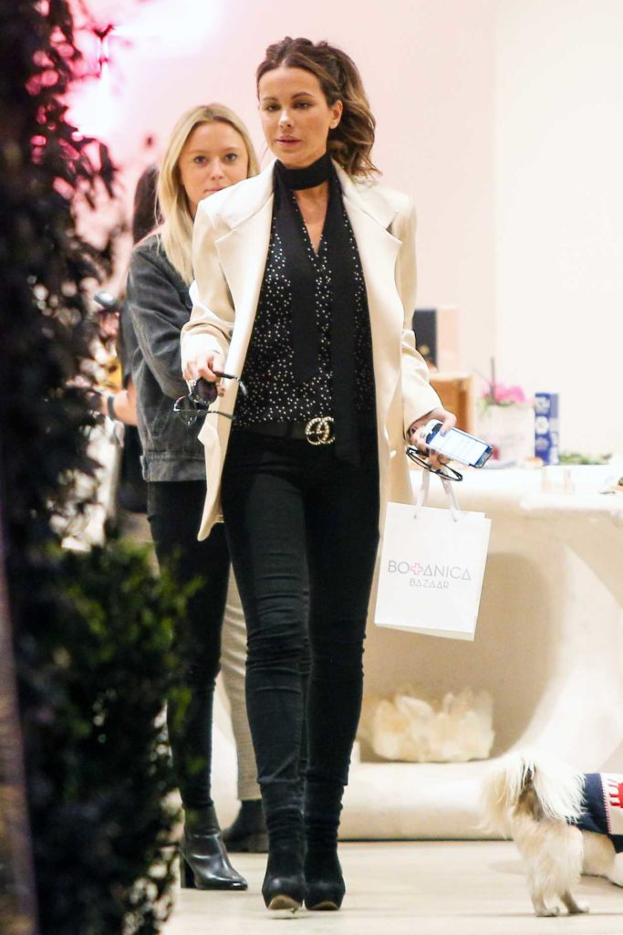 Kate Beckinsale in a White Blazer