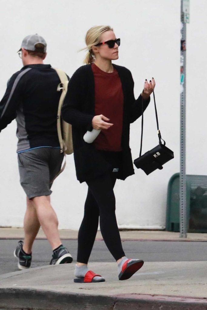 Kristen Bell in a Black Leggings
