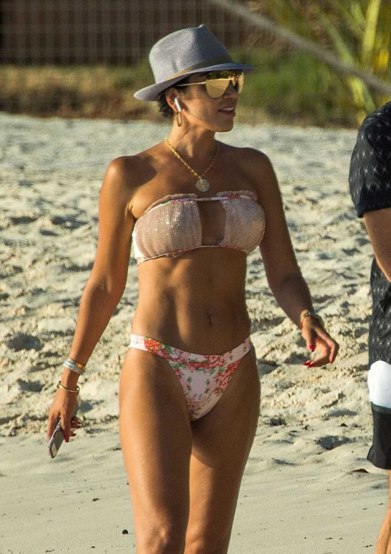 Nigora Bannatyne in Bikini on the Beach in Barbados 12/29