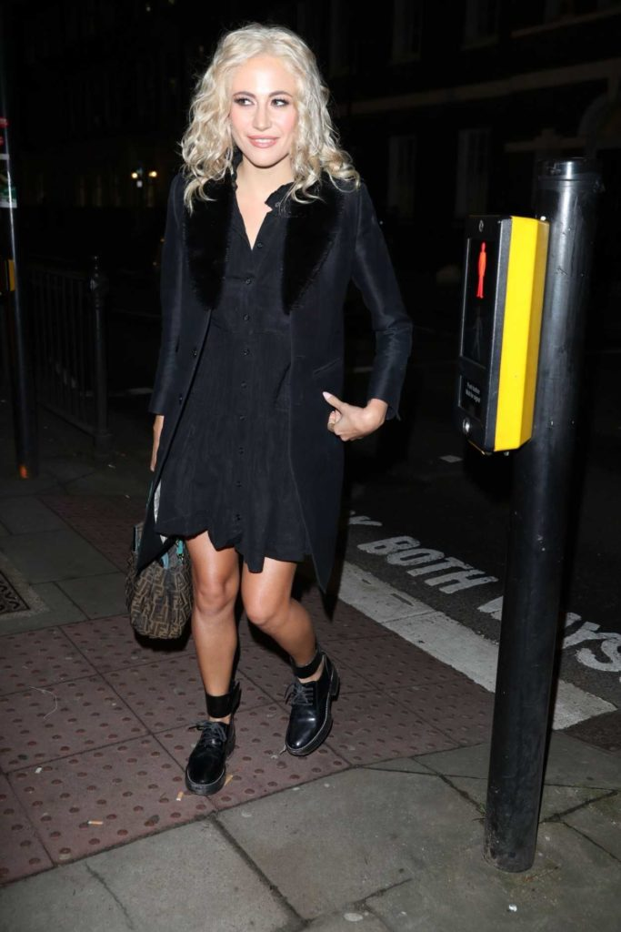 Pixie Lott in a Black Coat