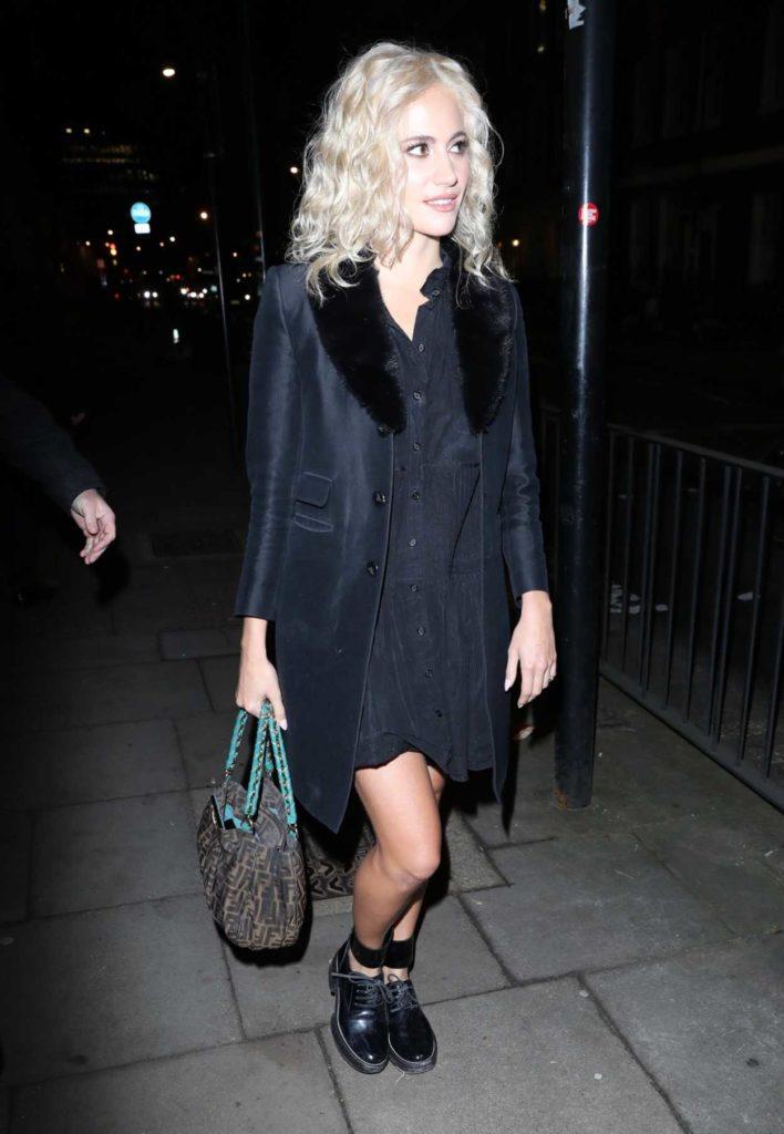 Pixie Lott in a Black Coat