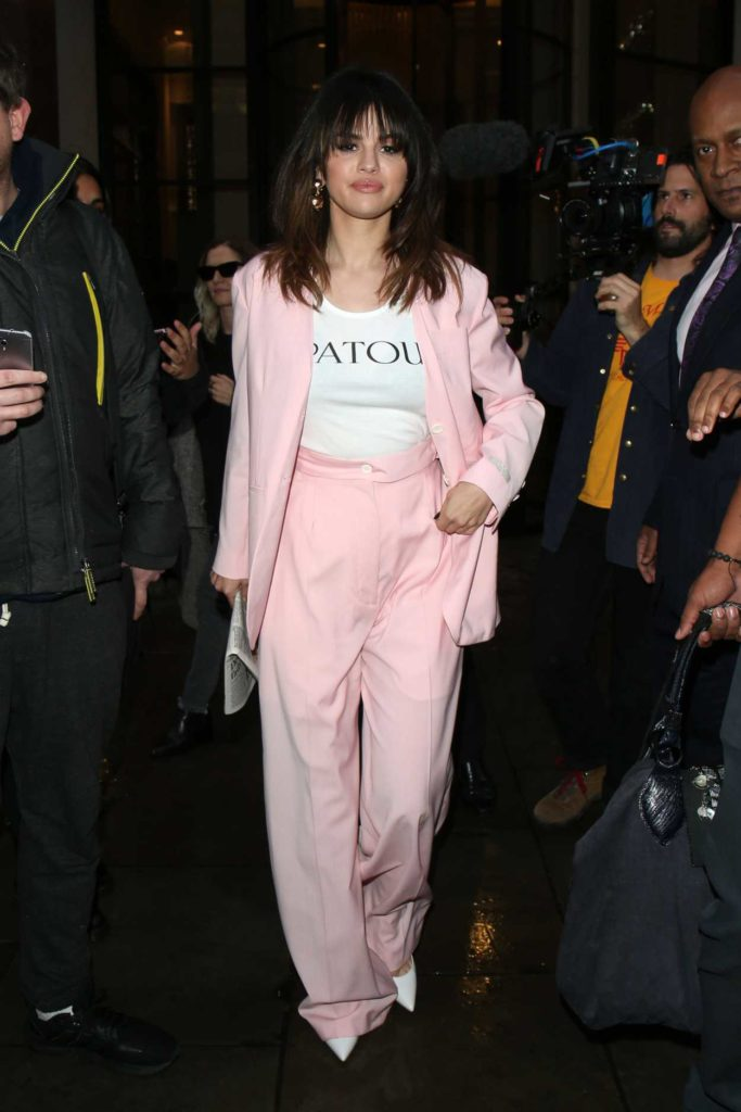Selena Gomez in a Pink Suit