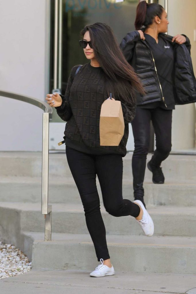 Shay Mitchell in a White Sneakers