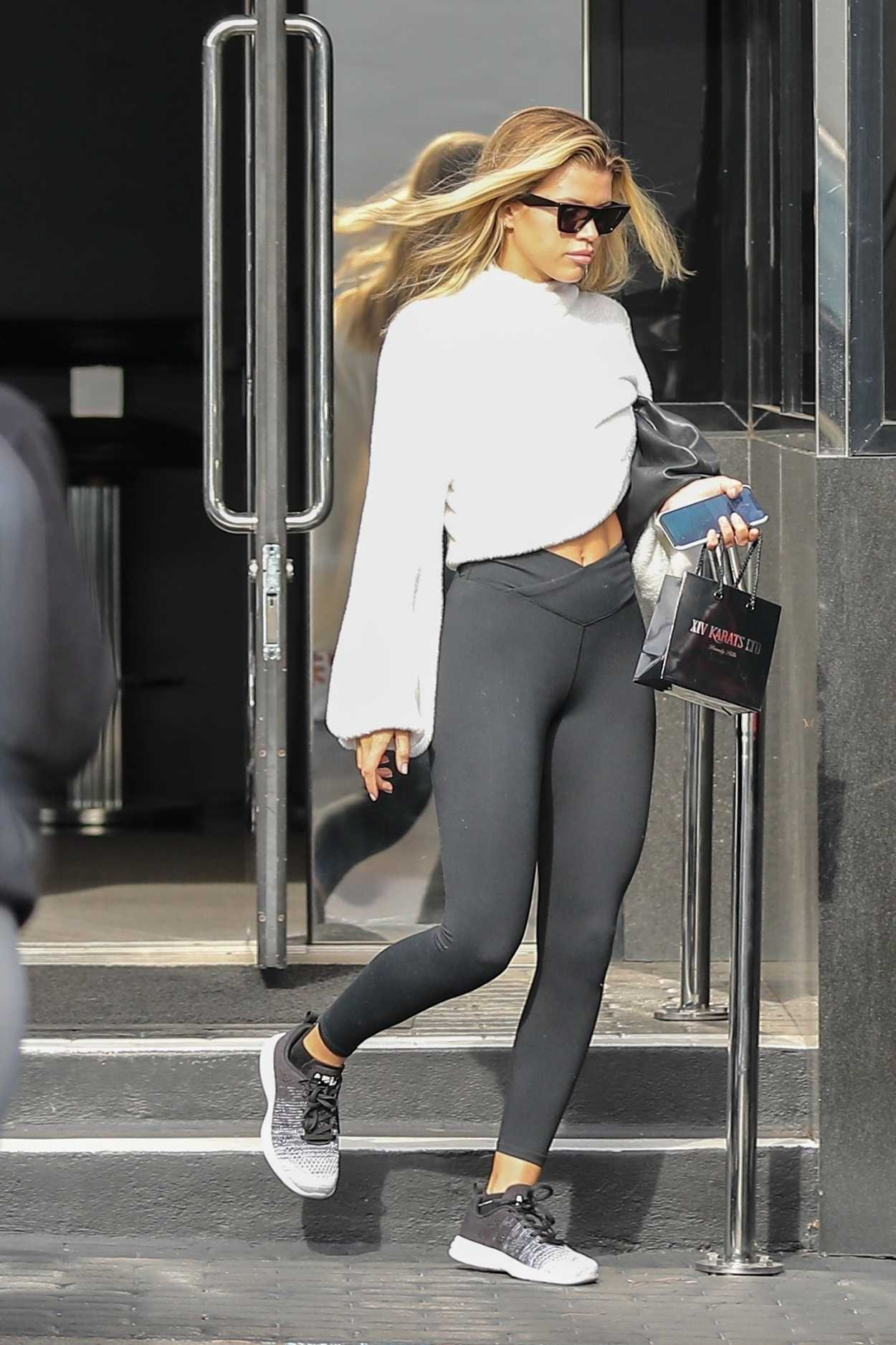 Sofia Richie Black Leggings Leaves Xiv Karats Store
