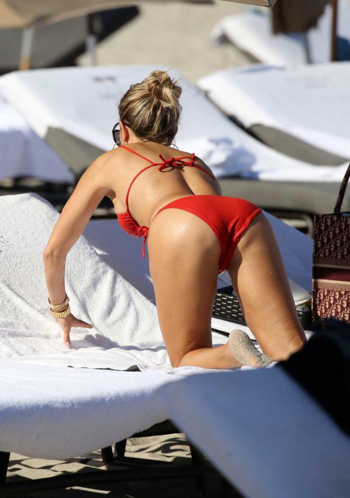Sylvie Meis in a Red Bikini