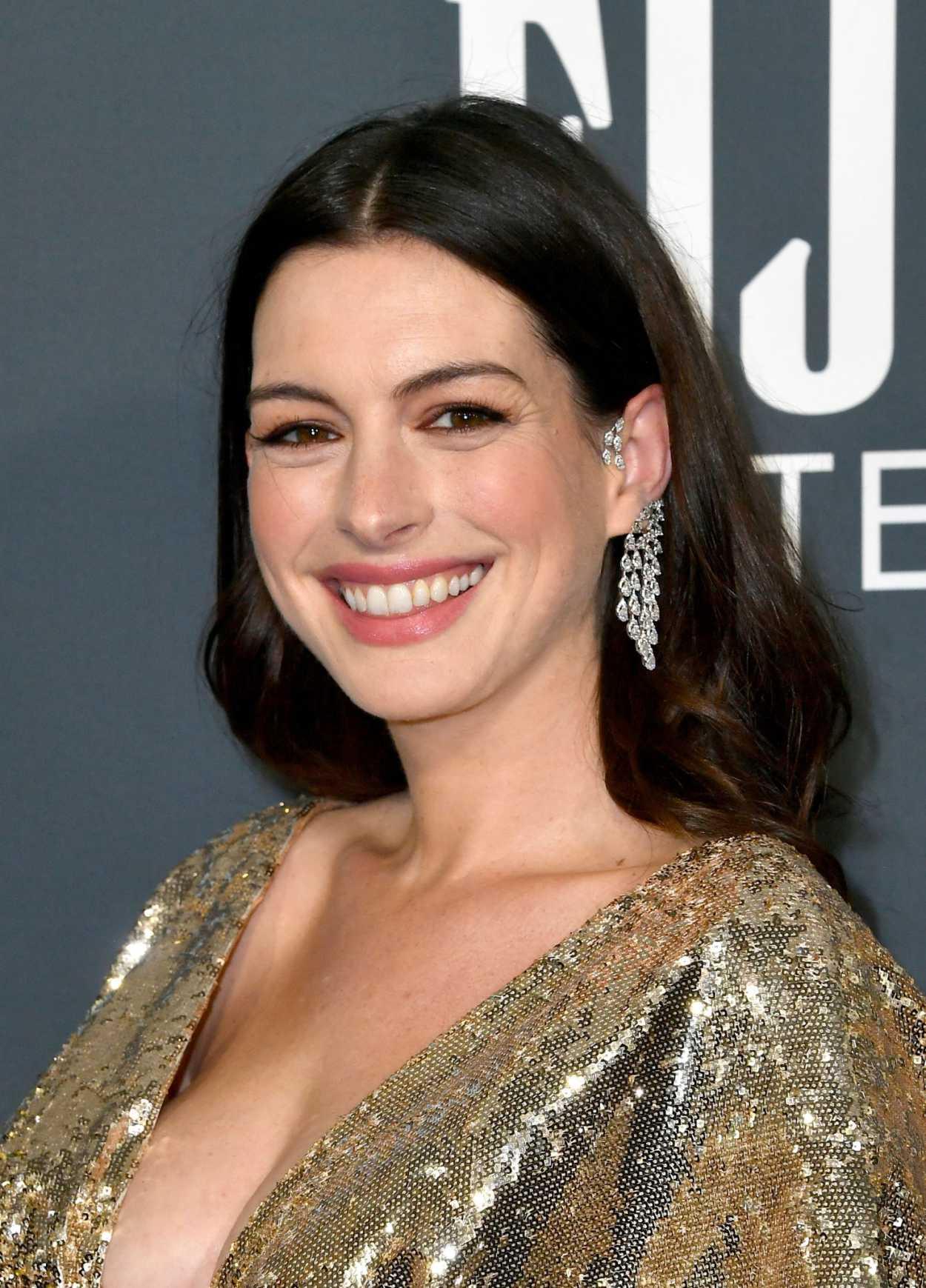 Anne Hathaway Attends ...