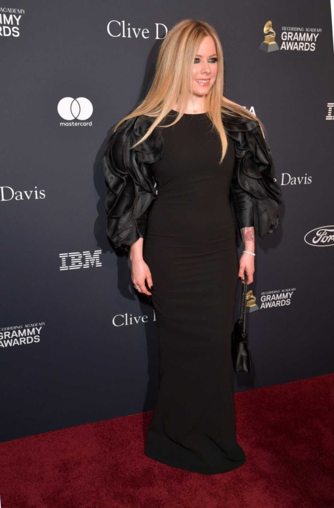 Avril Lavigne Attends 2020 Clive Davis Pre-Grammy Gala in
