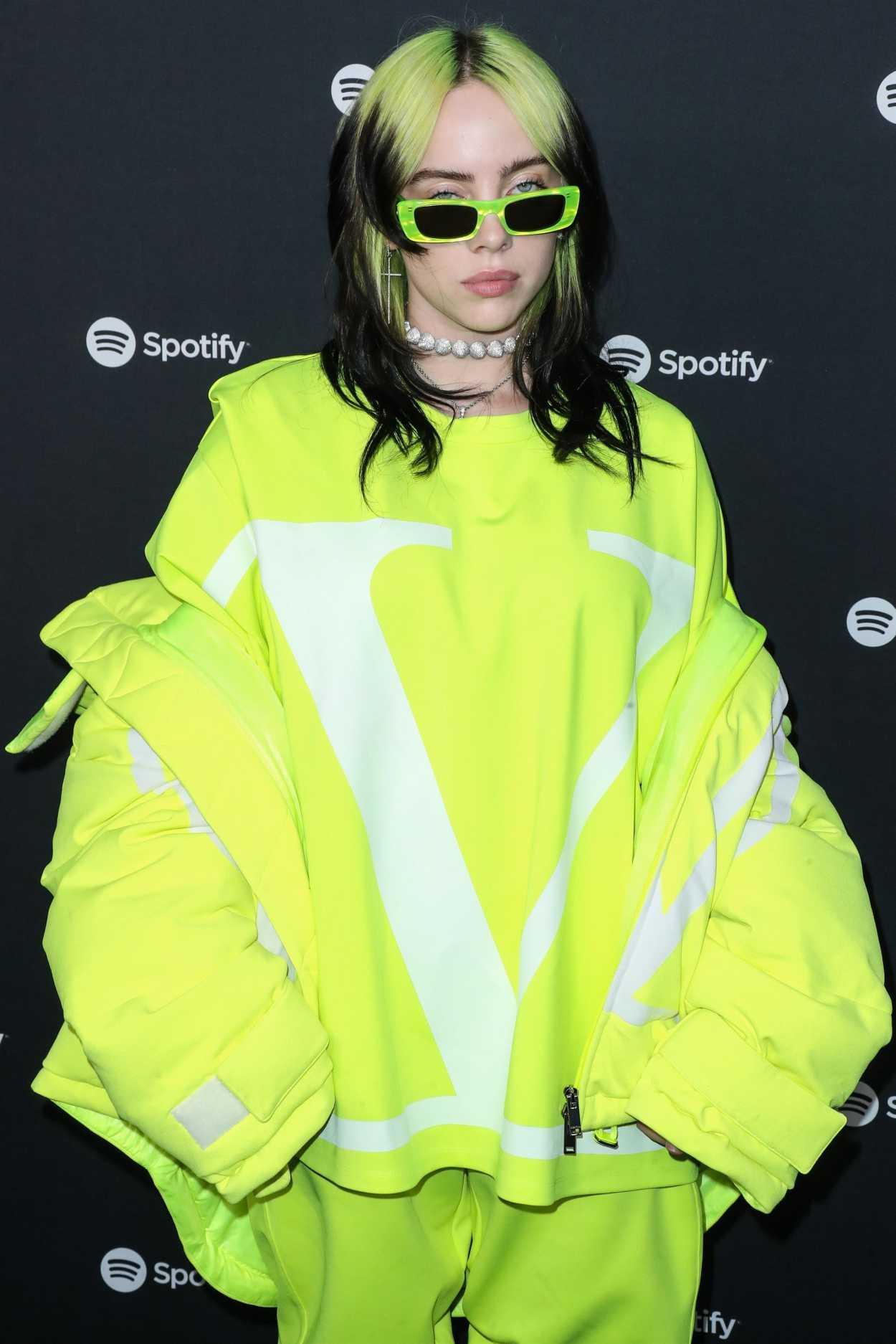 Billie Eilish Attends 2020 Spotify Best New Artist Party ...
