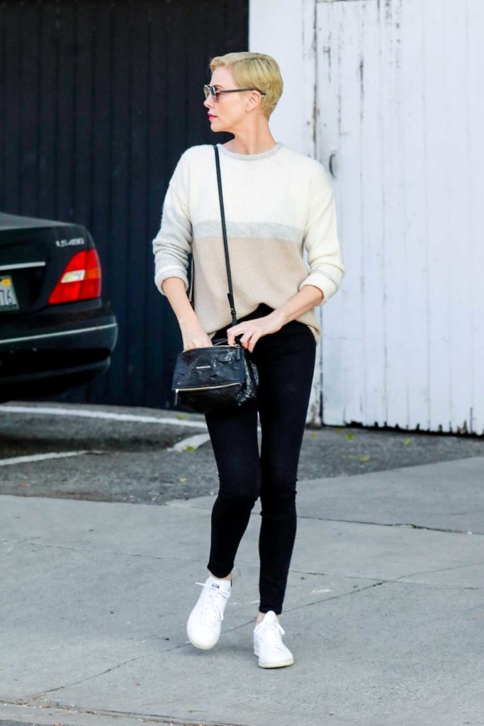 Charlize Theron in a White Sneakers