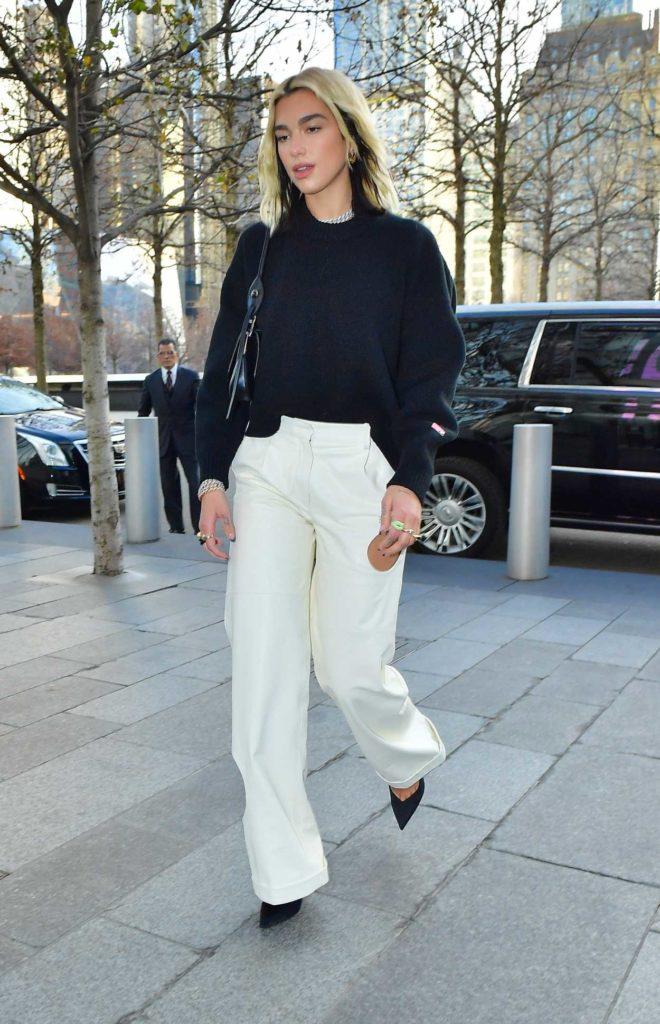 Dua Lipa in a White Pants