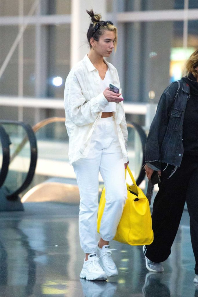 Dua Lipa in a White Sneakers