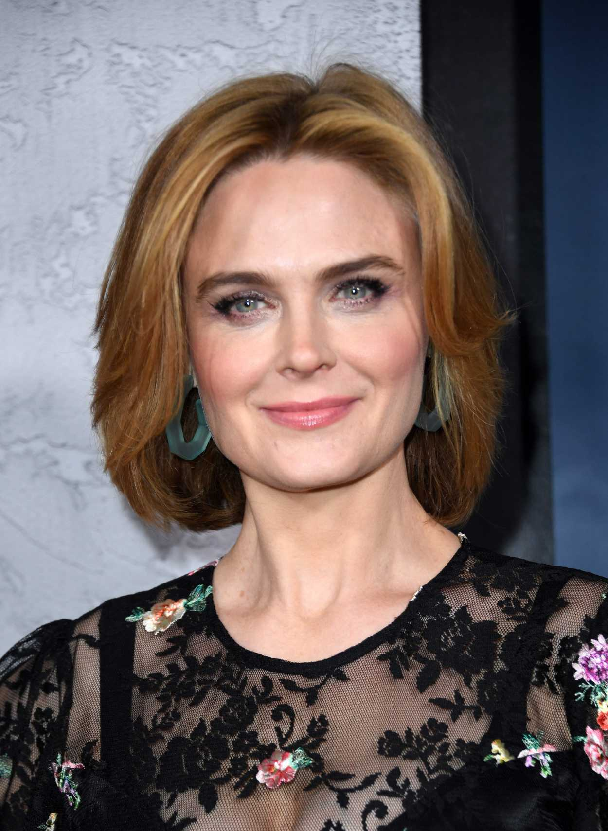 Emily Deschanel Attend...