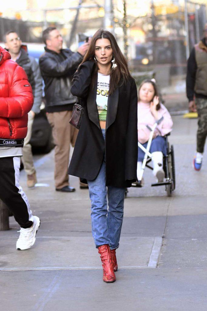 Emily Ratajkowski in a Black Blazer
