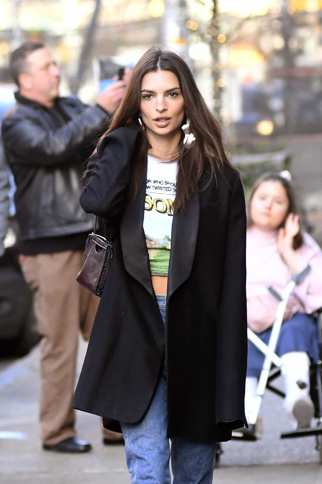 Emily Ratajkowski in a Black Blazer Steps Out for Lunch in ...