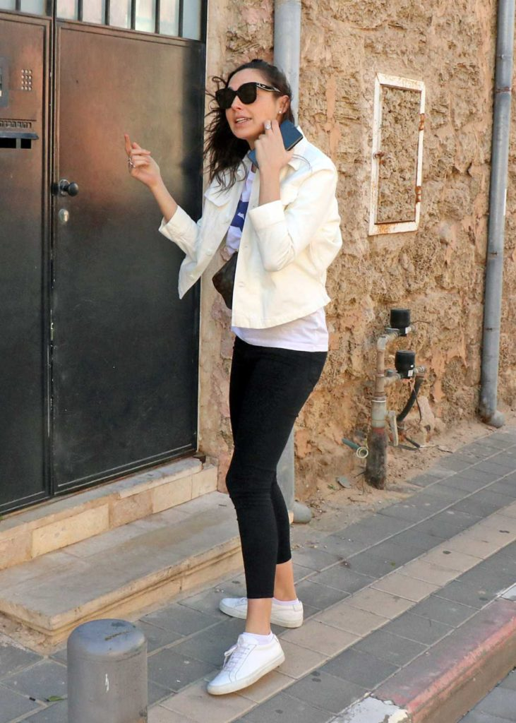 Gal Gadot in a White Sneakers