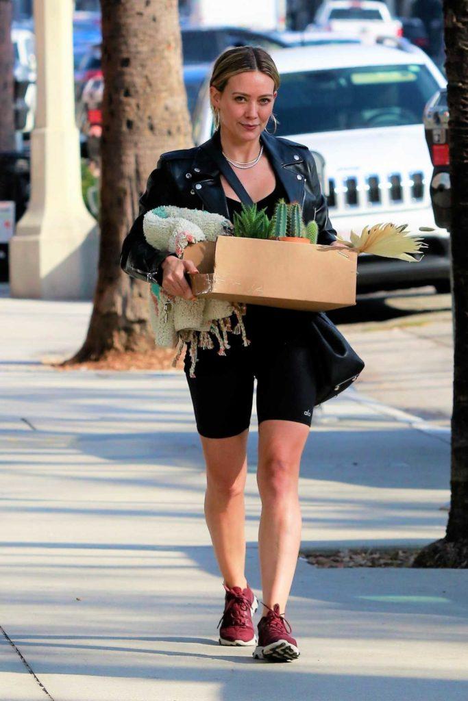 Hilary Duff in a Purple Sneakers