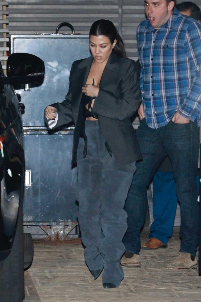 Kourtney Kardashian in a Black Blazer