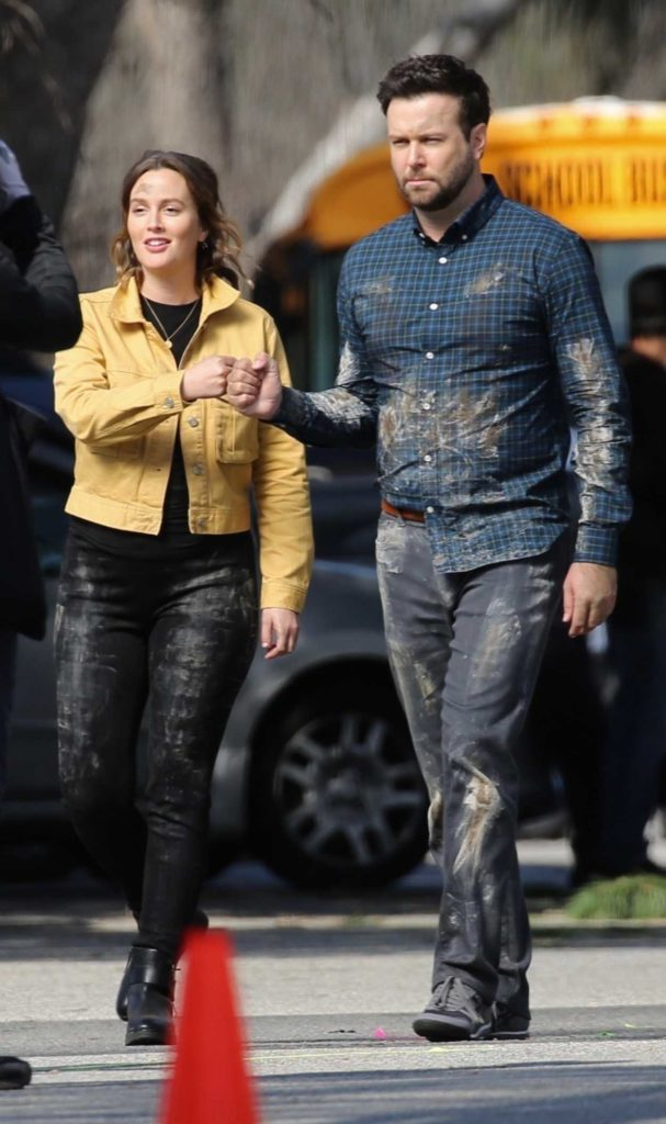 Leighton Meester in a Yellow Jacket