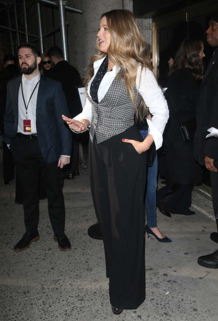 Blake Lively in a Black Pants