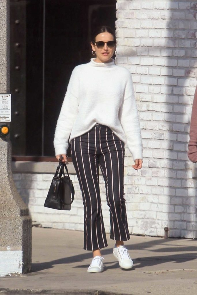 Camilla Belle in a White Sneakers