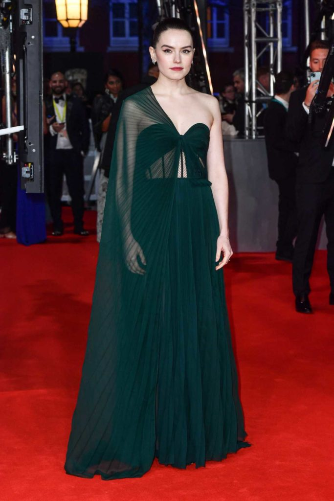 Daisy Ridley Attends 2020 EE British Academy Film Awards