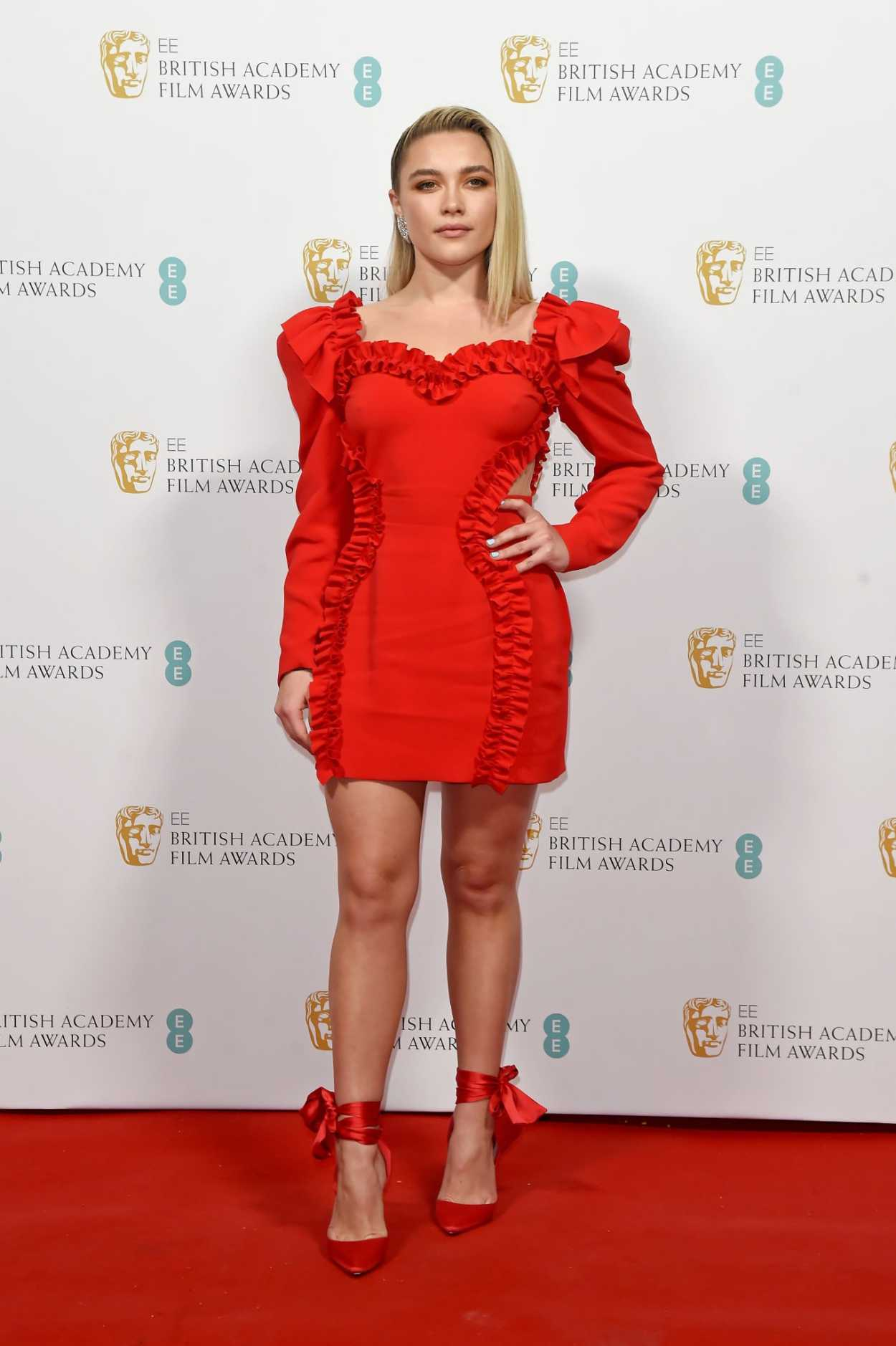 Florence Pugh Attends 2020 EE British Academy Film Awards