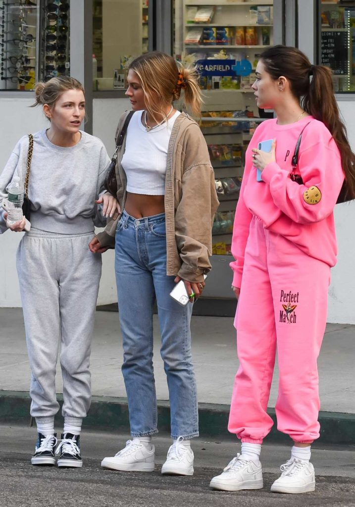 Madison Beer in a Pink Sweatsuit
