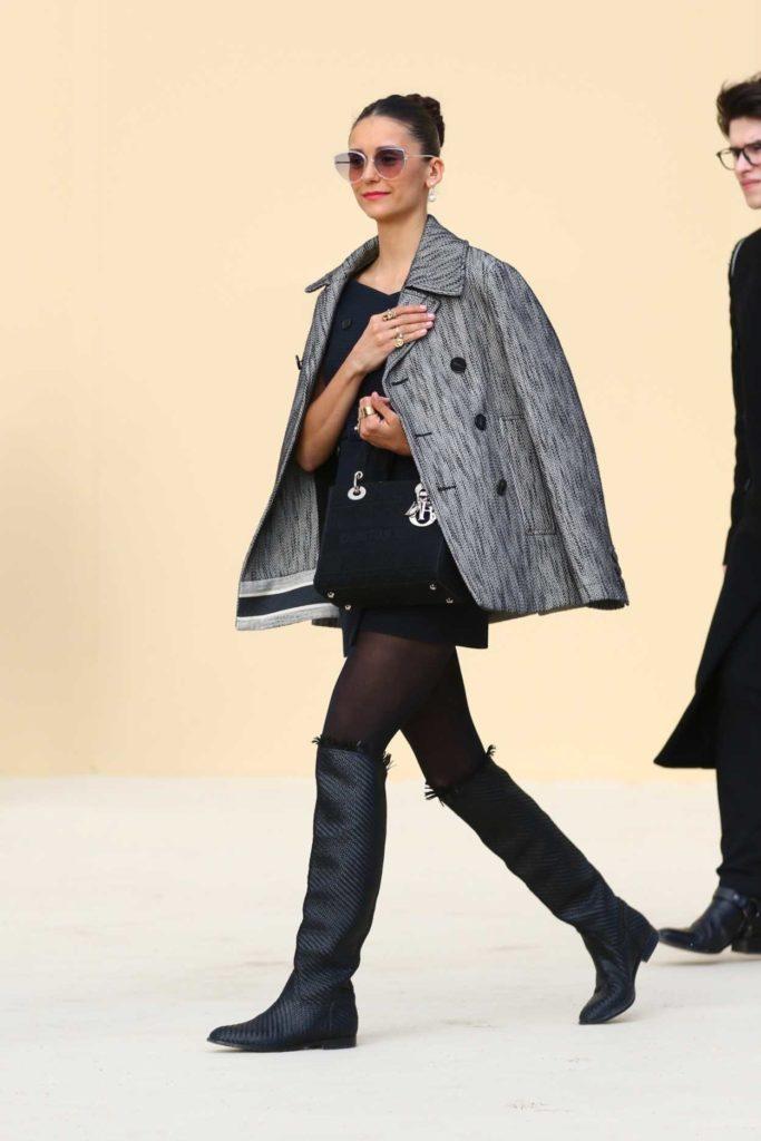 Nina Dobrev in a Black Dress