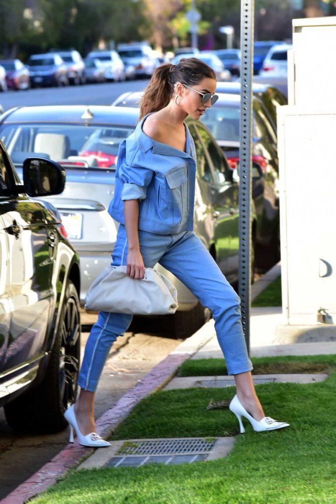 Olivia Culpo in a Blue Suit