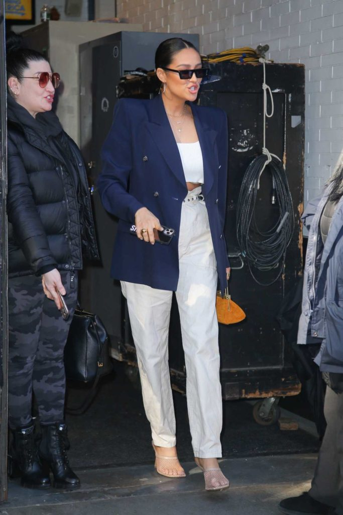 Shay Mitchell in a Blue Blazer