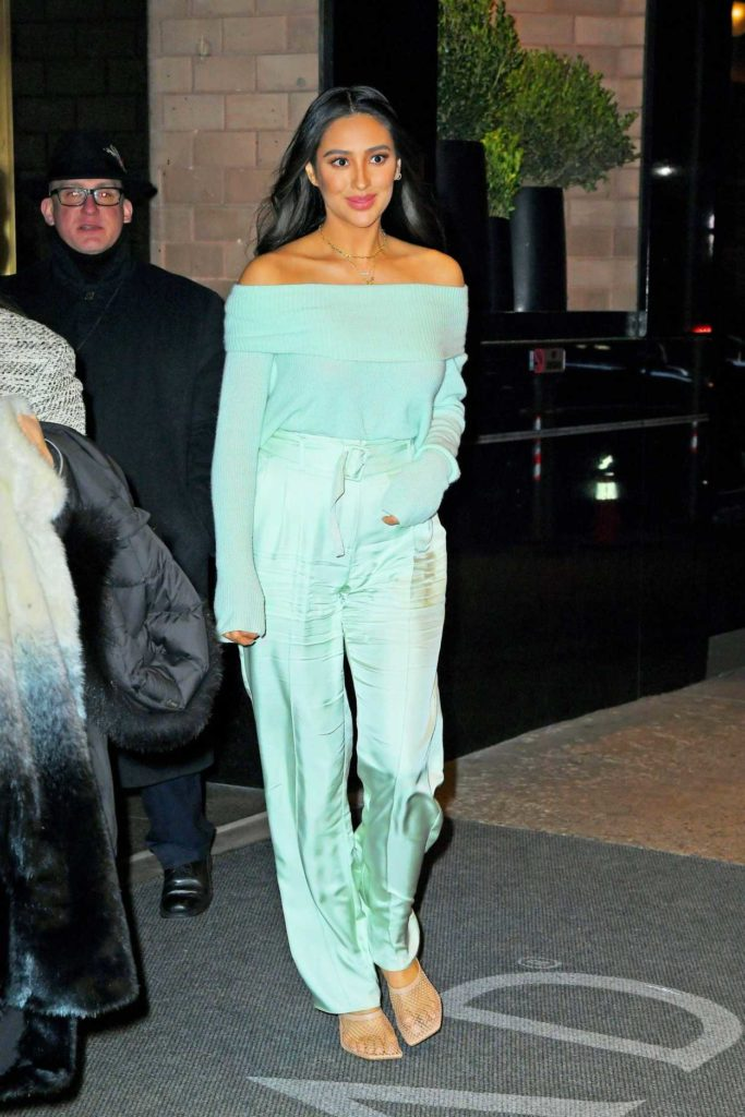 Shay Mitchell in a Green Pants