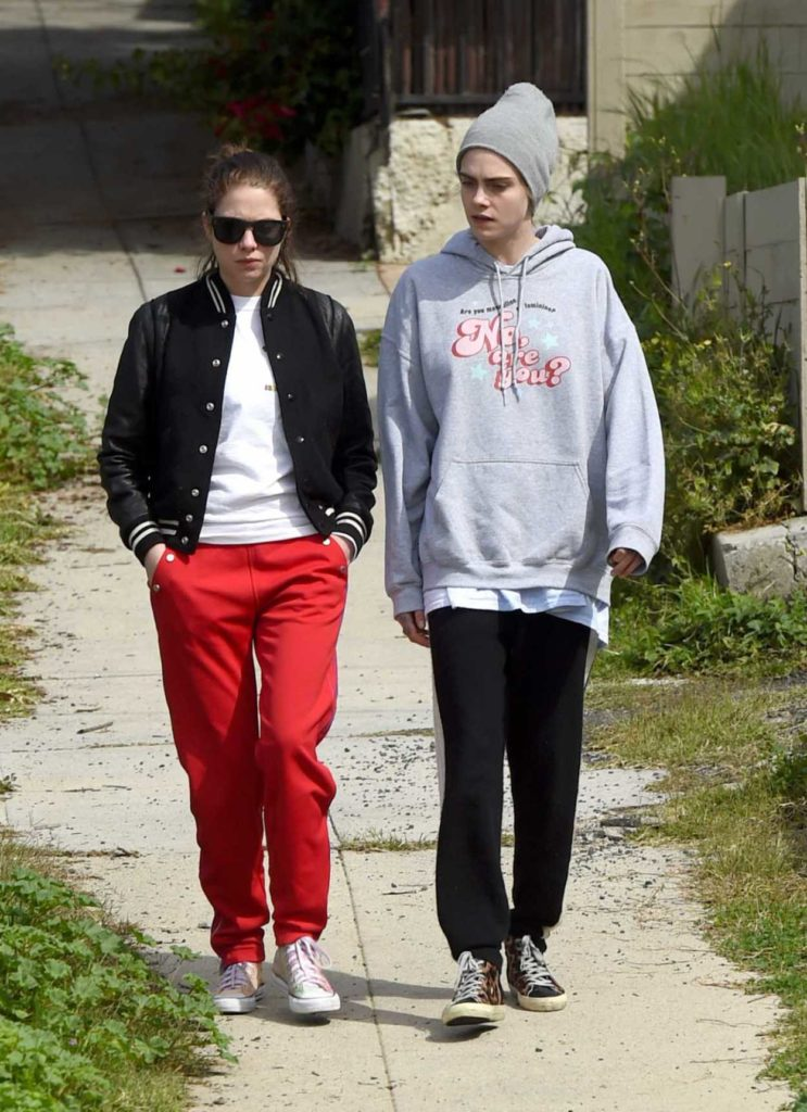 Ashley Benson in a Red Pants