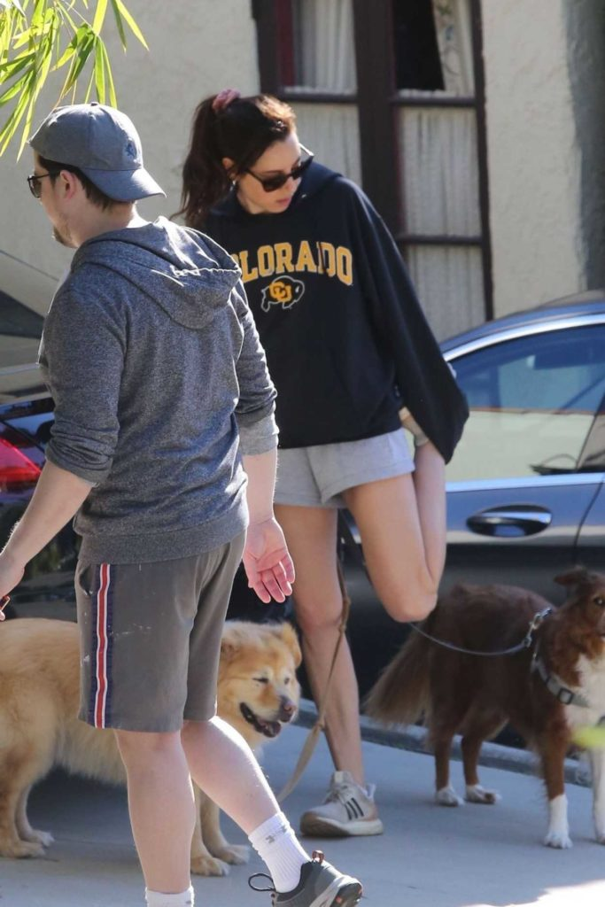 Aubrey Plaza in a Black Hoody