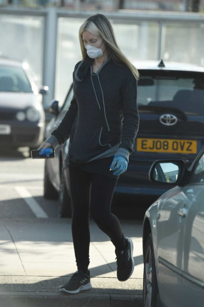 Caprice Bourret in a Surgical Face Mask