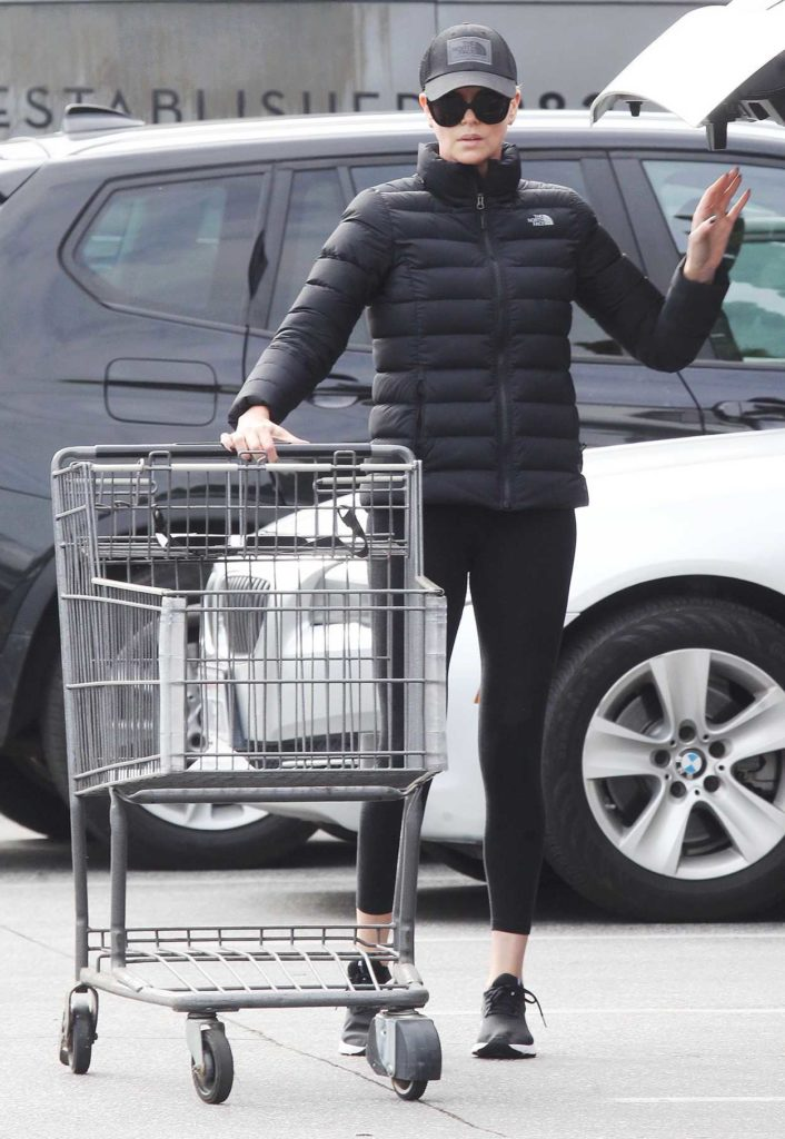 Charlize Theron in a Black Cap