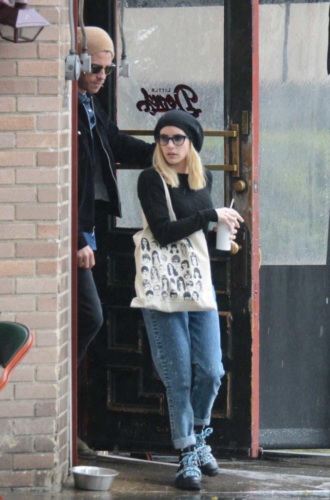 Emma Roberts in a Black Beret