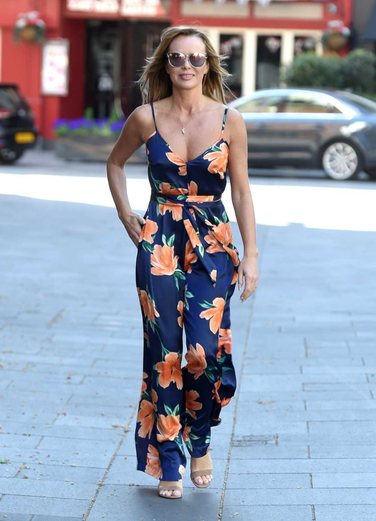Amanda Holden in a Floral Jumpsuit