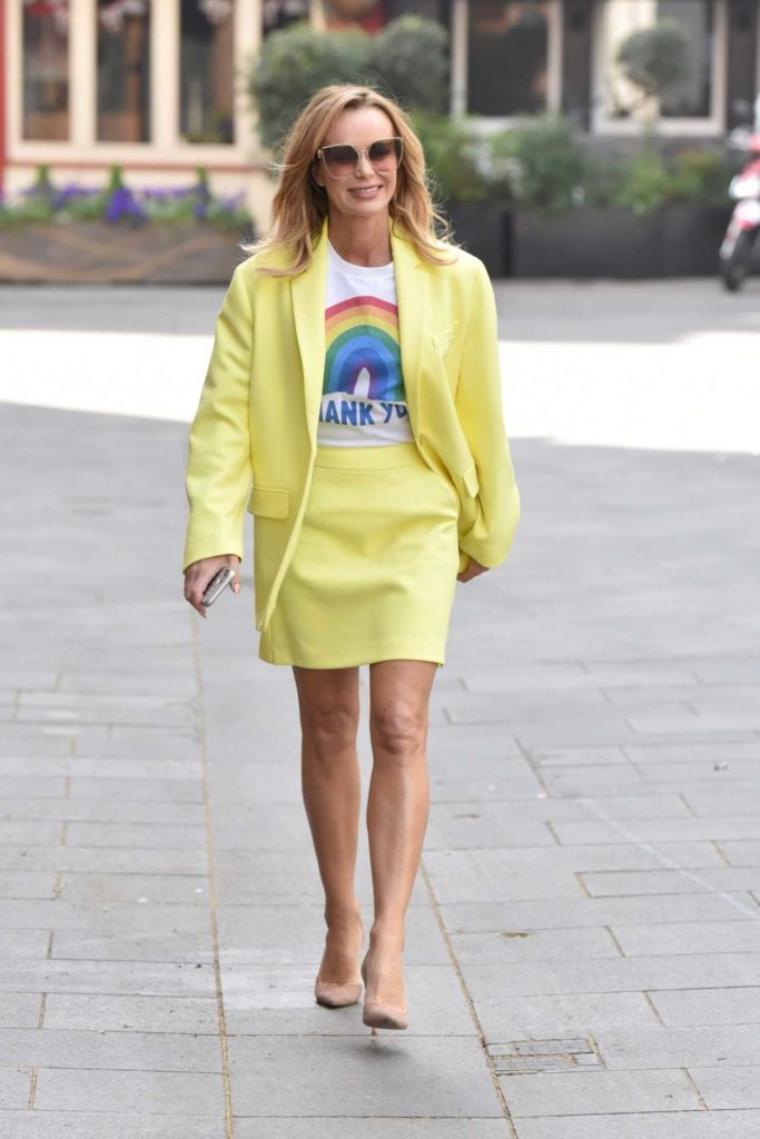 Amanda Holden in a Yellow Suit