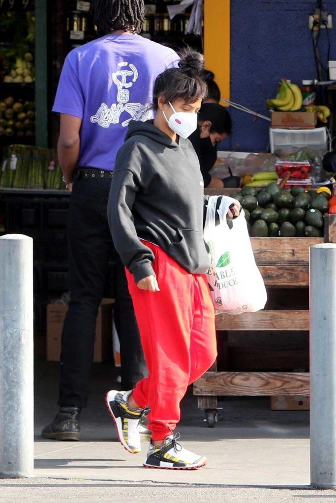 Christina Milian in a Red Sweatpants