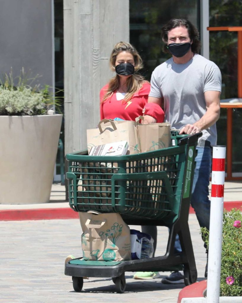 Denise Richards in a Face Mask