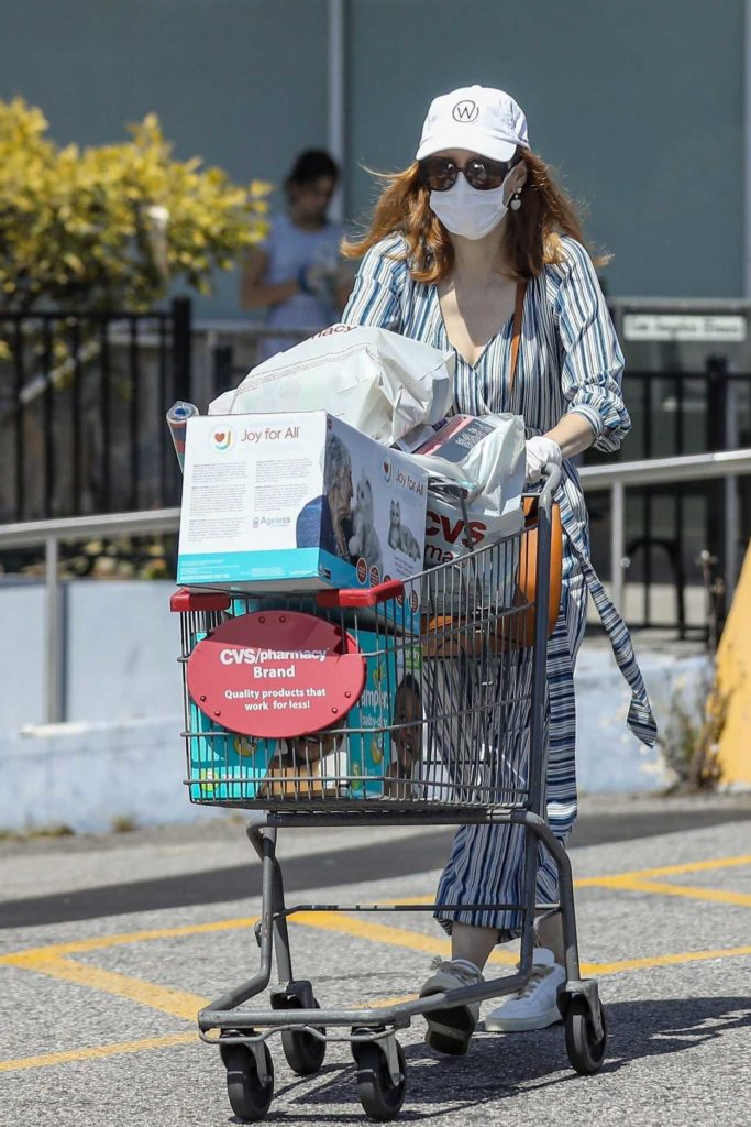 Jessica Chastain in a Face Mask