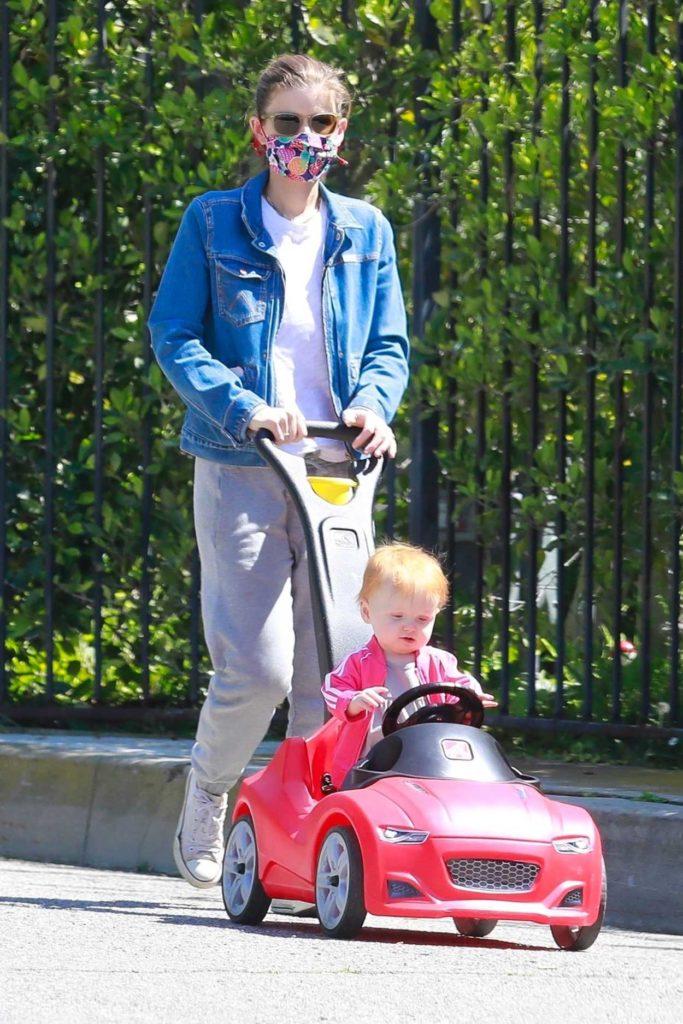 Kate Mara in a Blue Denim Jacket