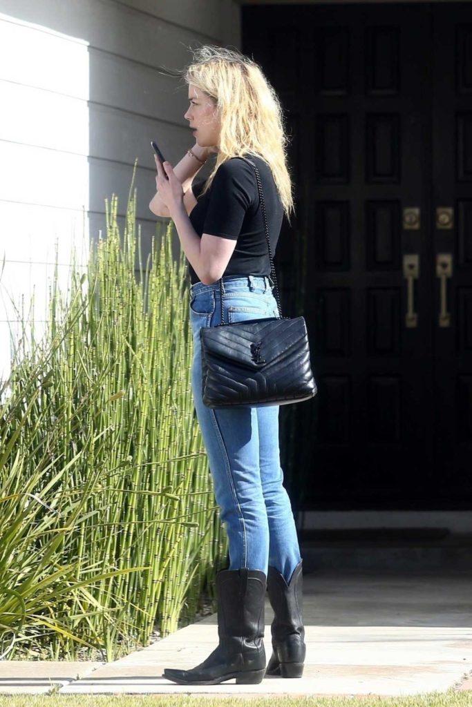 Amber Heard in a Black Tee
