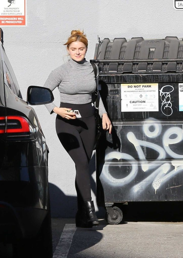 Ariel Winter in a Gray Turtleneck