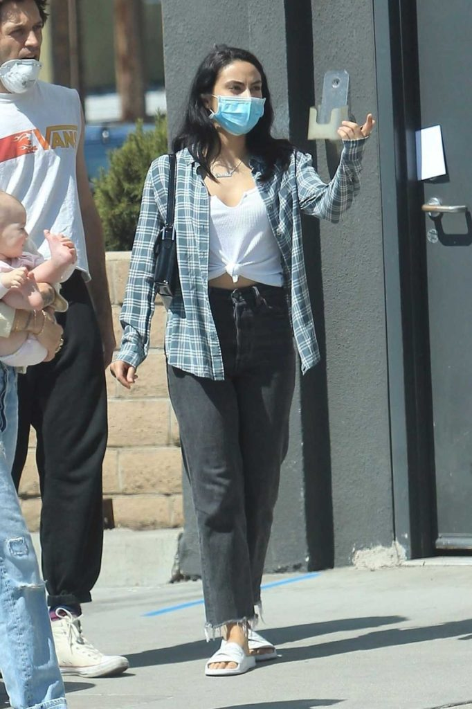 Camila Mendes in a Protective Mask