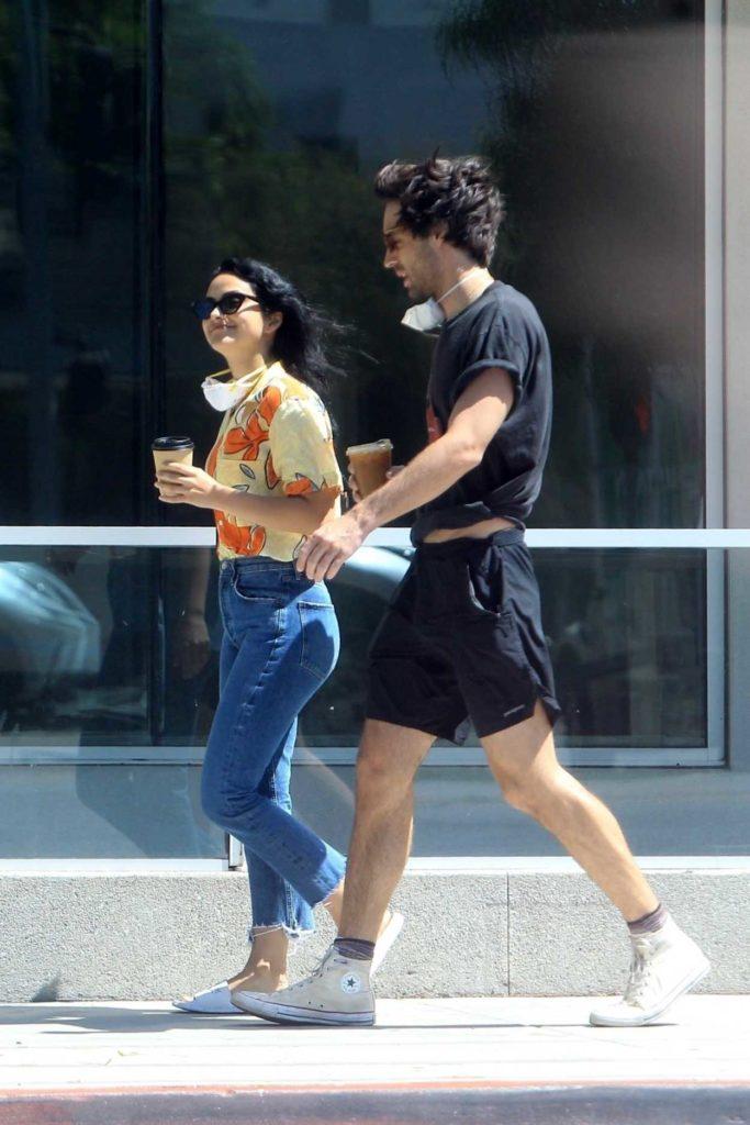 Camila Mendes in a White Flip-Flops