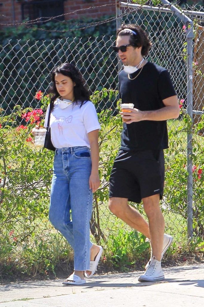 Camila Mendes in a White Tee