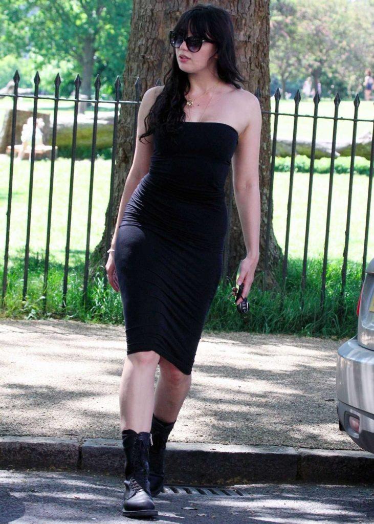 Daisy Lowe in a Black Dress
