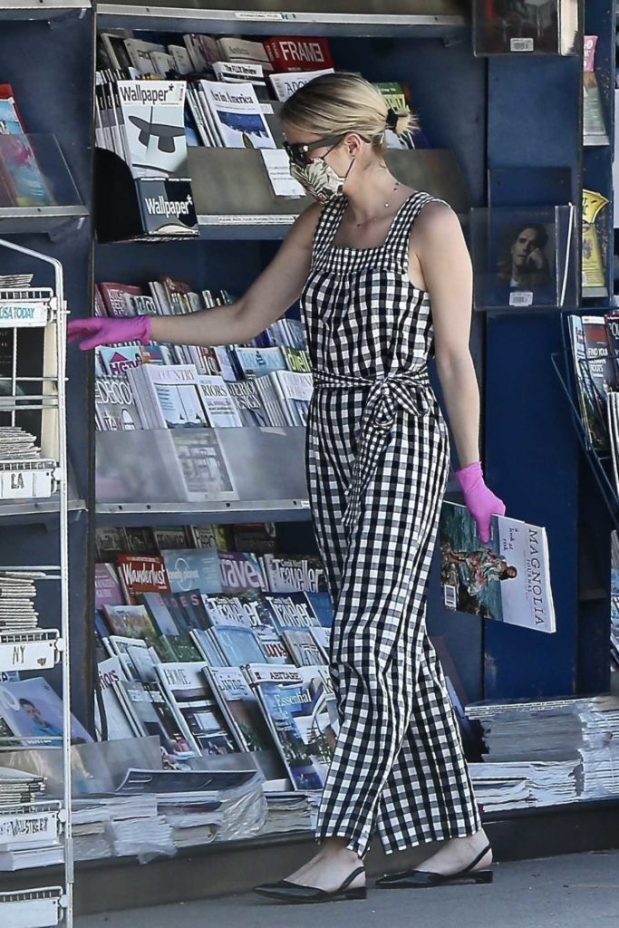 Emma Roberts in a Checked Coveralls
